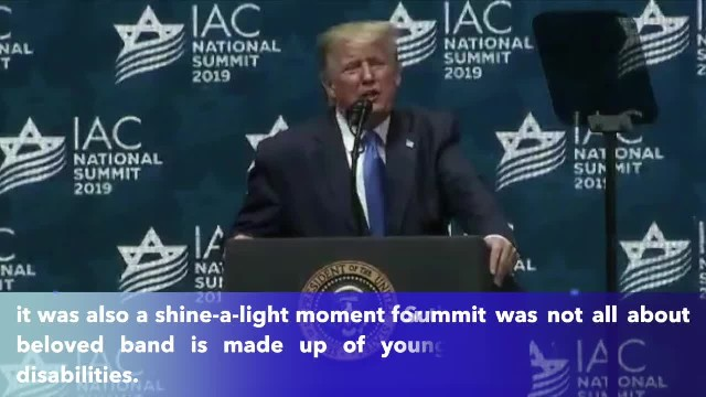 Isarel's disabled ban performs 'God Bless America,' wows President Trump at Israeli-American Council