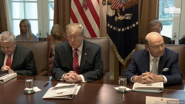 President Trump Hosts a Cabinet Meeting