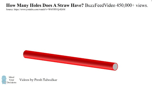 How Many Holes Does A Straw Have?