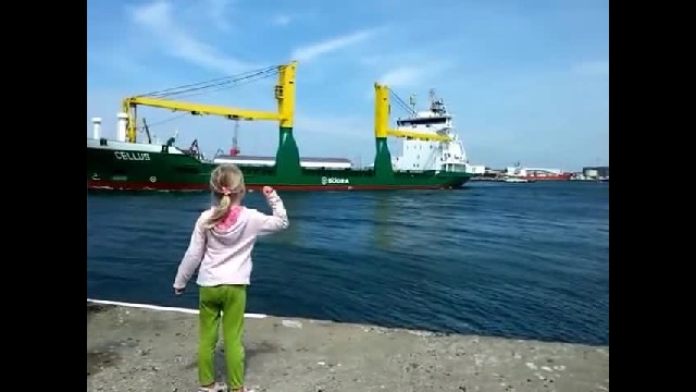 Young Girl Begs Massive Ship To Honk For Her. 10 Million Have Watched Her Regret It Right Away