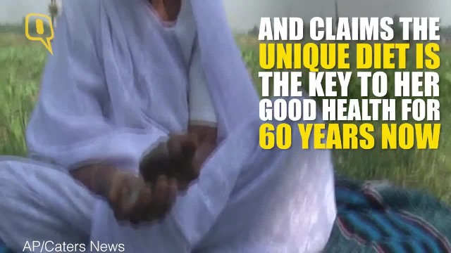 The Quint 78-Year-Old Eats Sand Claims It to Be the Key to Her Good Health