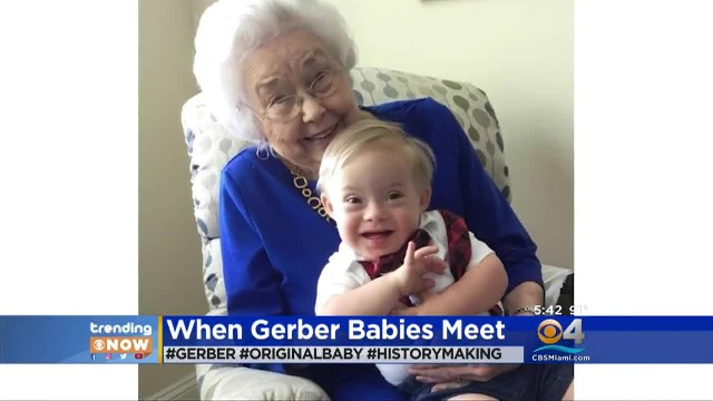 Together for the First Time – The Original and New Geber Babies 90 Years Apart