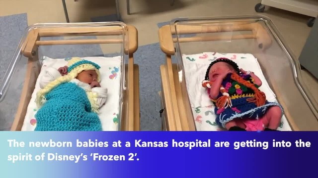 Kansas hospital dresses up newborns as 'Frozen 2' characters