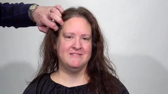 Woman tired of thinning hair gets sexy new look making her glow