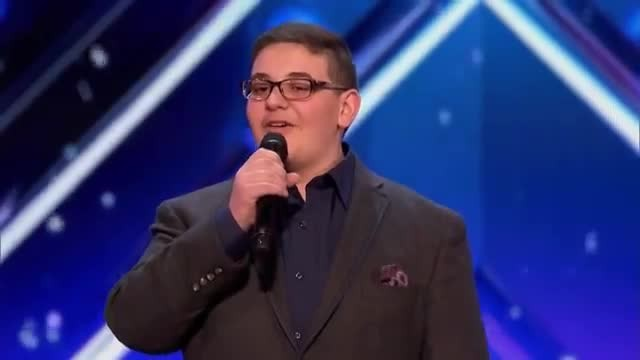 Shaking like a leaf young boy's act so moving forces Howie to slam the golden buzzer