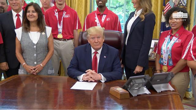 President Trump Welcomes Members of Team USA for the Special Olympics World Games