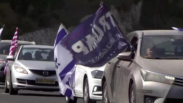 President Trump supporters drive to U.S. embassy in Jerusalem