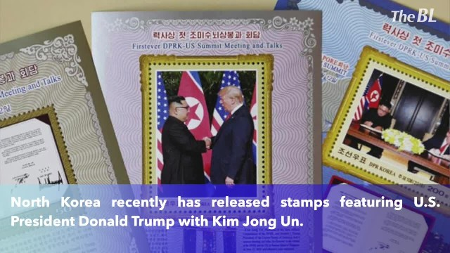 North Korea features President Trump on its postage stamps