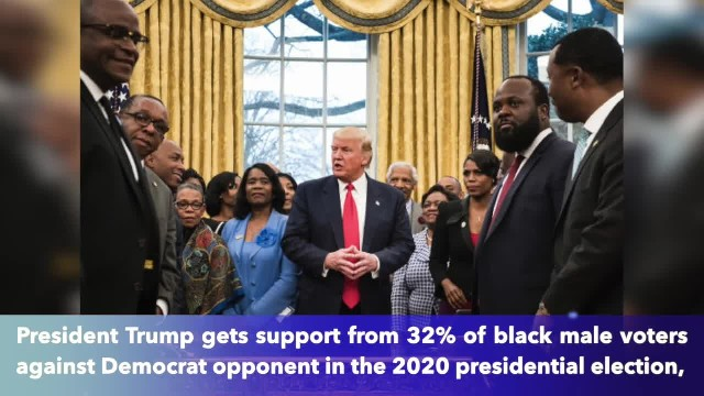 Shock poll shows 32of black male voters prefer to vote for President Trump over a Democrat opponent