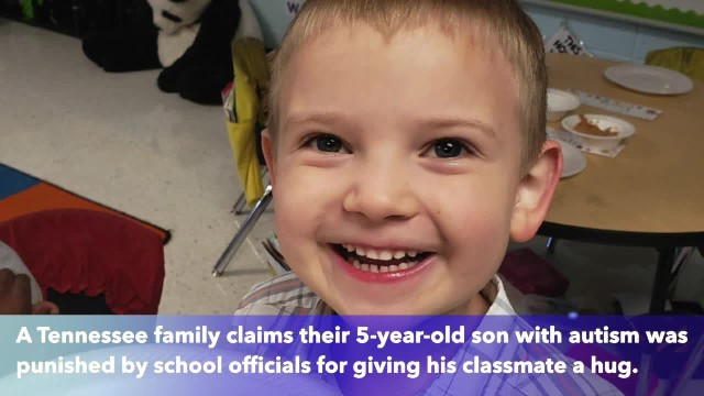 5-year-old boy with autism punished for hugging at school, family says
