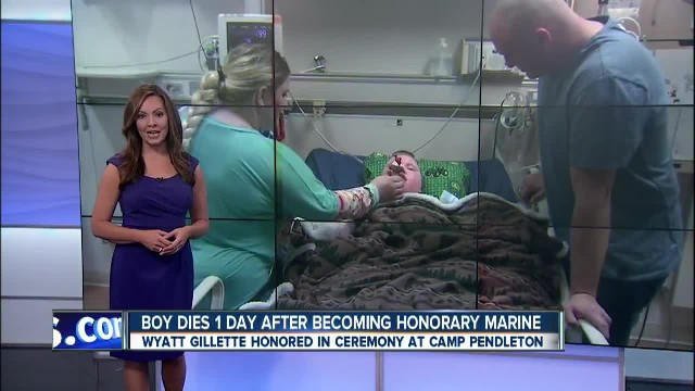8-Year-Old Boy With Rare Illness Holds On Long Enough To Become Honorary Marine