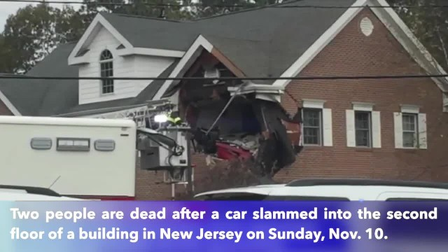 Porsche crashes into second floor of New Jersey building, killing 2 people