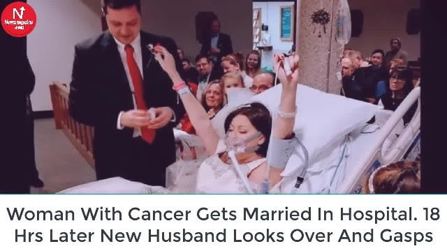 Bride with cancer marries from hospital bed – 18 hours later, husband looks into her eyes and breaks