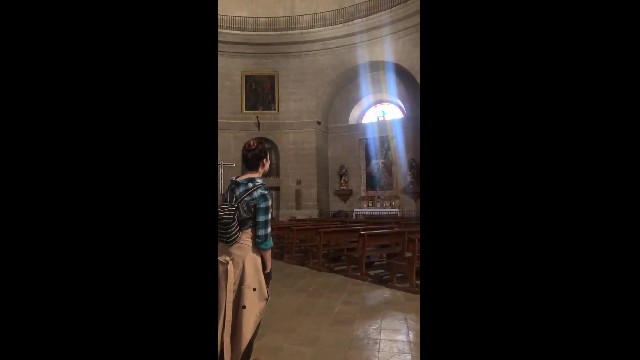 Woman Starts To Sing In Empty Cathedral, Hears Magical Echo & Gets Instant Chills