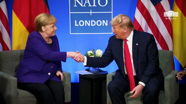 President Trump Participates in a Bilateral Meeting with the Chancellor of Germany