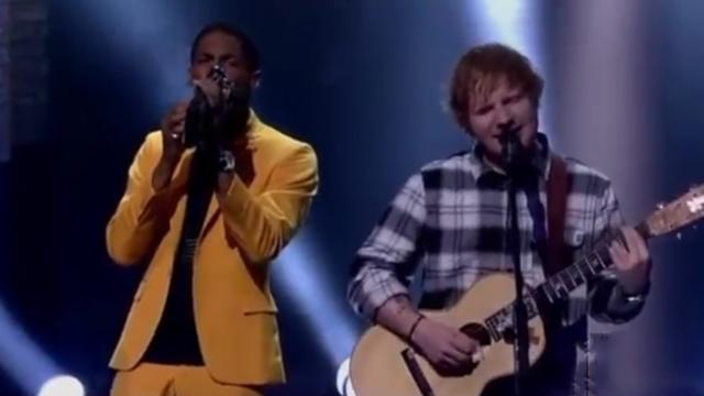 "Ed Sheeran gets band to help him pull off epic version of ""Ain't No Sunshine"""
