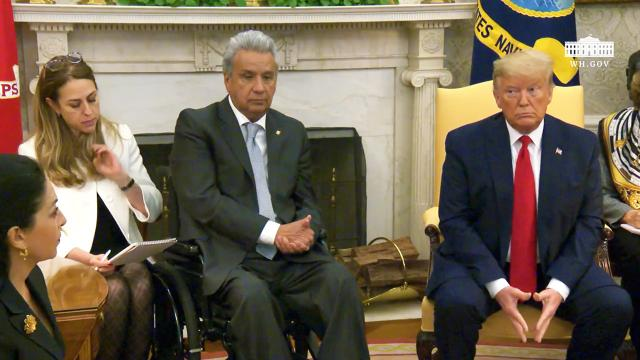 President Trump meets with the President of the republic of Ecuador