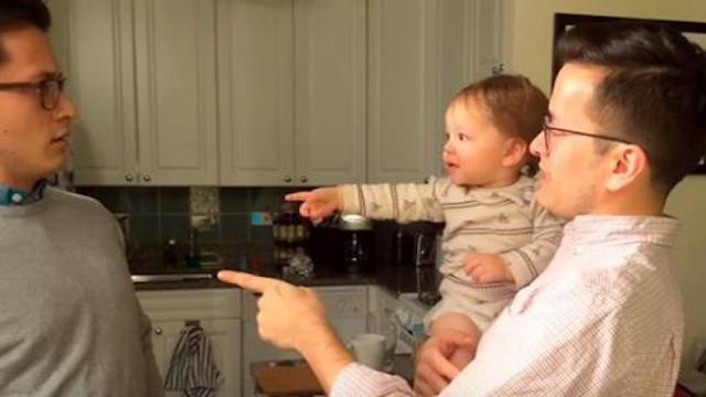 He meets his father's twin for the first time. His reaction is absolutely priceless