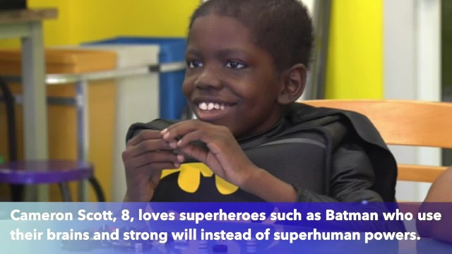 8-year-old 'superhero' rejoices after beating stage 4 brain cancer