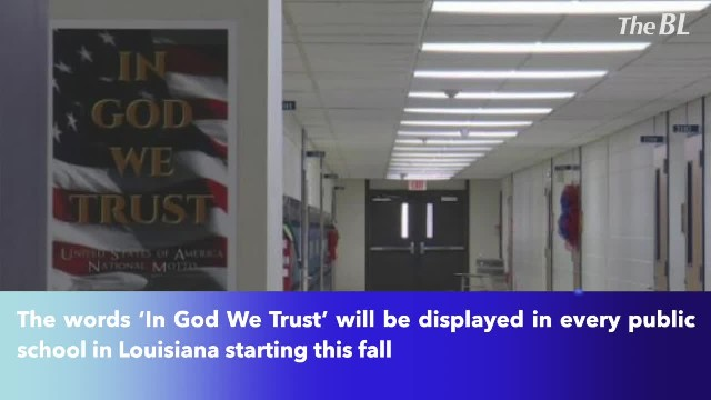 'In God We Trust'- motto to appear in every public school in Louisiana this fall