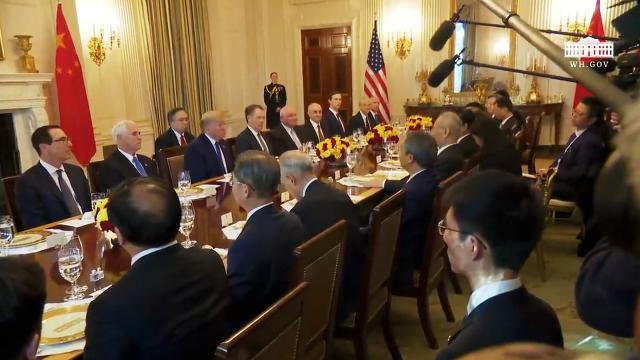 President Trump has lunch with the Vice Premier of the People's Republic of China