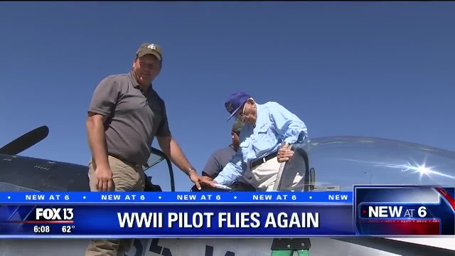 96-Year-Old WWII Pilot Is Nervous To Fly, But Once He's In The Air, Memories Come Flooding Back