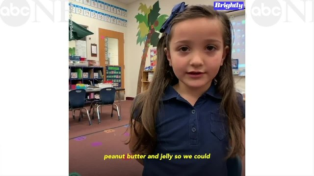 Six-year-old collects 1,000 jars of PB&J so her classmates won't go without a meal