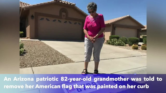 Arizona woman refused to remove American flag from her property as Home Owners Association said 'It'