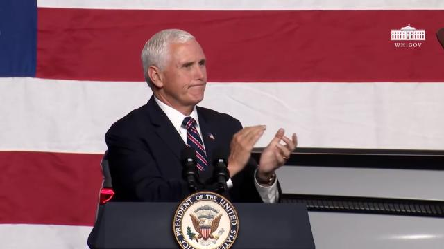 Vice President Pence delivers remarks on opening up America again