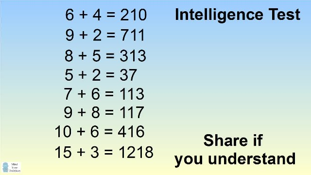 If 6 + 4 = 210, then ? + ? = 123?