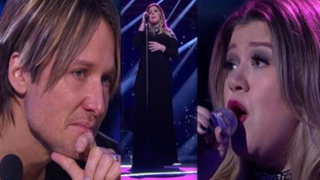 Kelly Clarkson sings haunting emotional song on Idol and Keith Urban breaks down