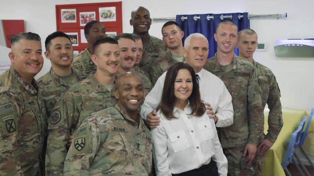 Vice President Pence & the Second Lady Visit with Troops for Thanksgiving in Iraq