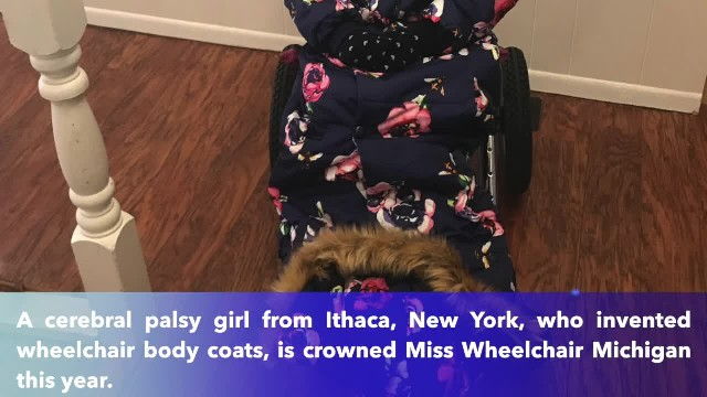 10-year-old girl who invented wheelchair body coats is crowned Miss Wheelchair Michigan