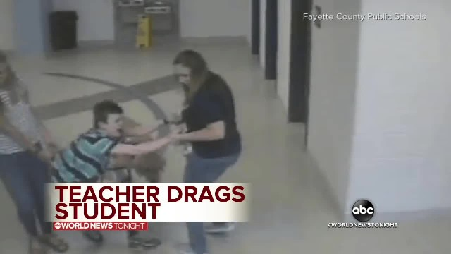 Teacher and nurse caught dragging an autistic boy Down the school hallway