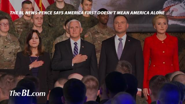 "Vice-President Pence says ""America First"" doesn't mean America alone"