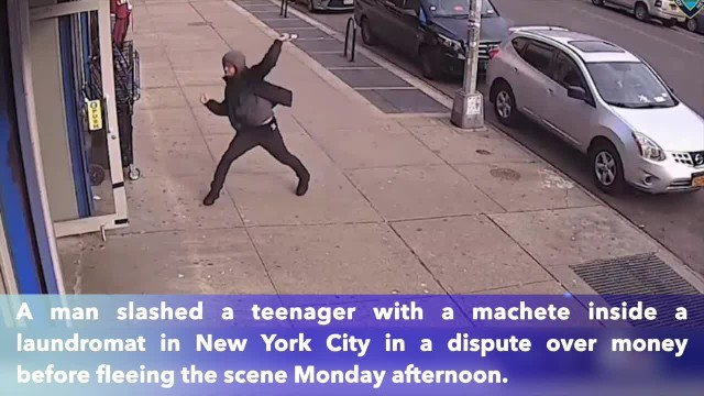 Machete-wielding man slashes teen in Bronx laundromat in dispute over money