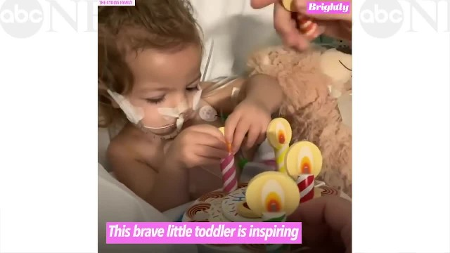 Brave 2-year-old fighting ovarian cancer- 'She's our hero'