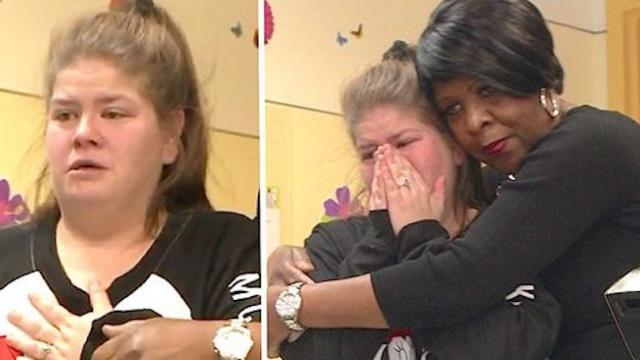 Cafeteria worker earns overtime all year for sick baby, then leads mom into her 'storage' room