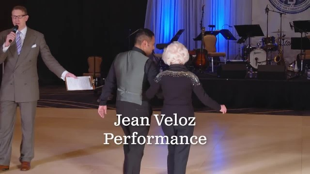 Gentleman takes 93-year-old's hand on dance floor and soon mouths are falling open