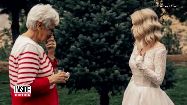 Grandma has no words when she sees granddaughter in wedding gown she wore decades earlier