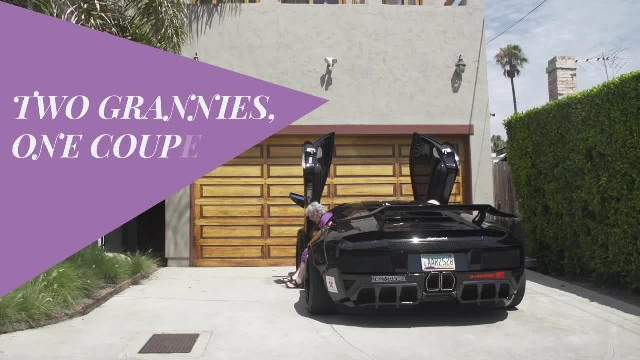 2 grannies get the keys to a Lamborghini - now watch them back the car up...