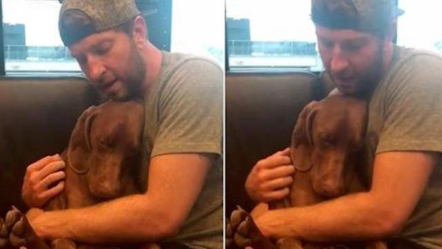 Dog climbs on country star's lap. Song he sings to him goes instantly viral
