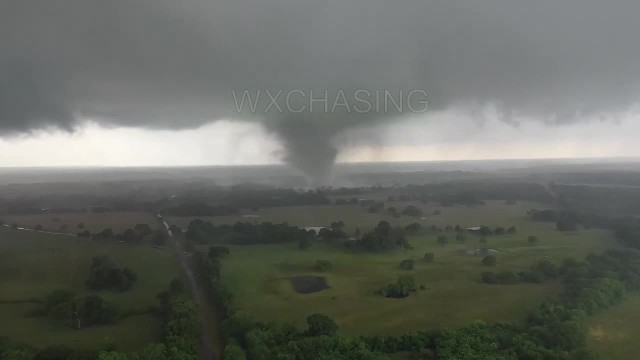 Tornado that just went through Canton, Tx from drone_2