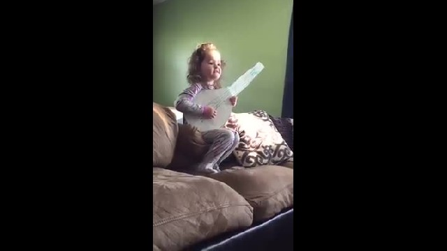 Dad Makes Her A Cardboard Guitar - Then She Gives Him A Performance He'll Never Forget