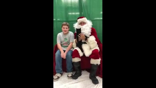 Boy Breaks Down After Santa Surprises Him With New Best Friend