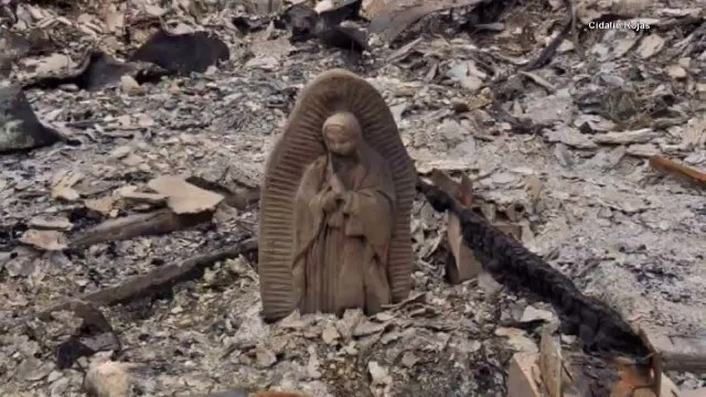 Virgin Mary Statue Is All That's Left After Family's Home Burns Down During Hurricane Harvey | Insid