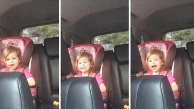 An adorable three year old girl belts out the lyrics to 'Bohemian