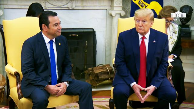 President Trump Participates in a Meeting with the President of the Republic of Guatemala