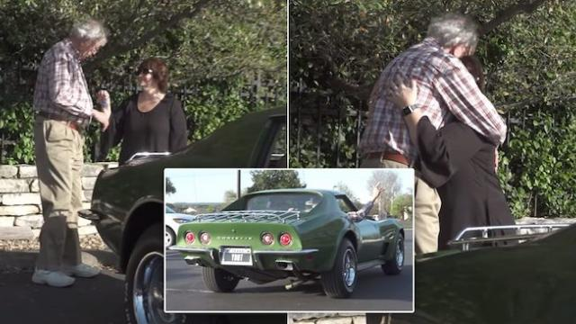 Daughter repays stepfather with his dream car sold off 40 years ago to raise them
