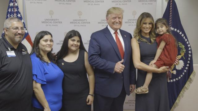 President Trump and First Lady Melania Trump Visits El Paso Texas